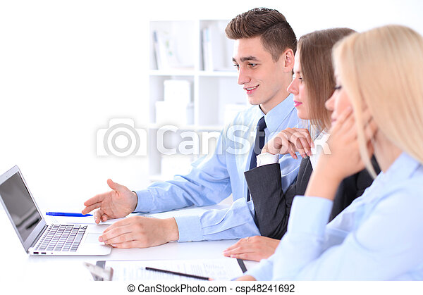 Business people at meeting - csp48241692