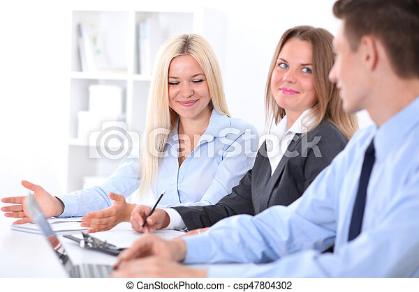 Business people at meeting - csp47804302