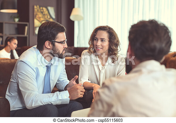 Business people at meeting - csp55115603