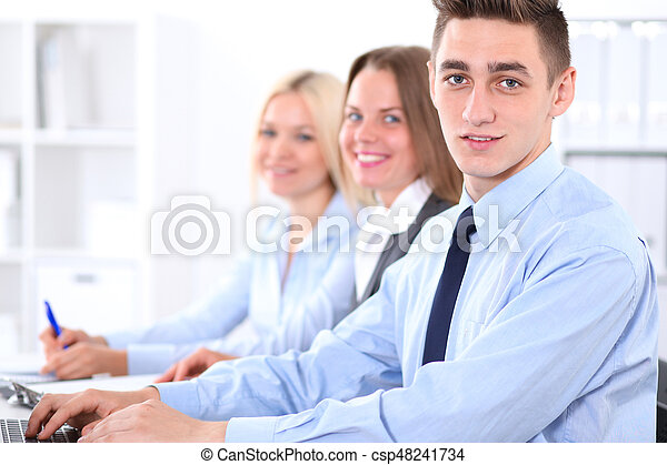 Business people at meeting - csp48241734