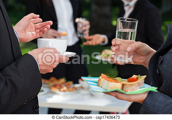 Business people at the lunch buffet - csp17436473