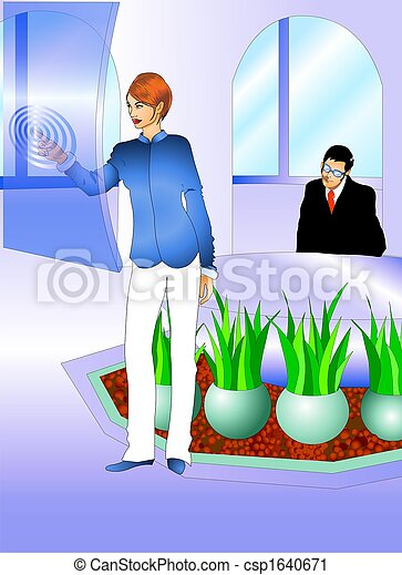 BUSINESS PEOPLE AT THE MEETING ROOM - csp1640671