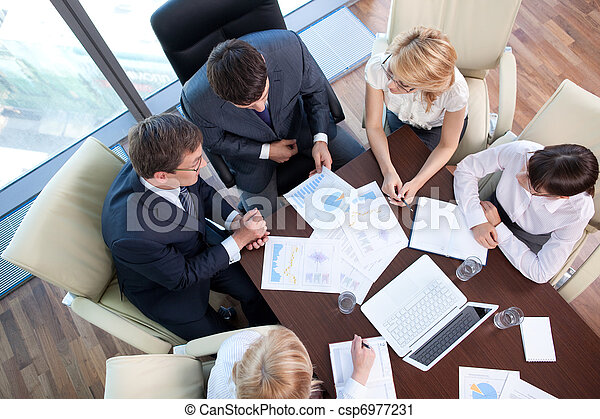Business people at the negotiating table in the office - csp6977231
