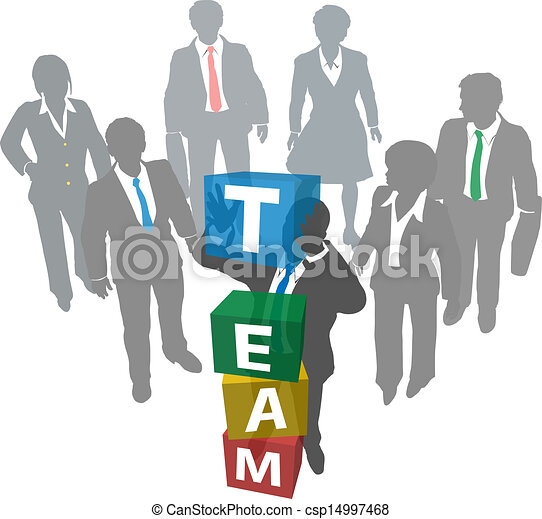 Business people build company team - csp14997468