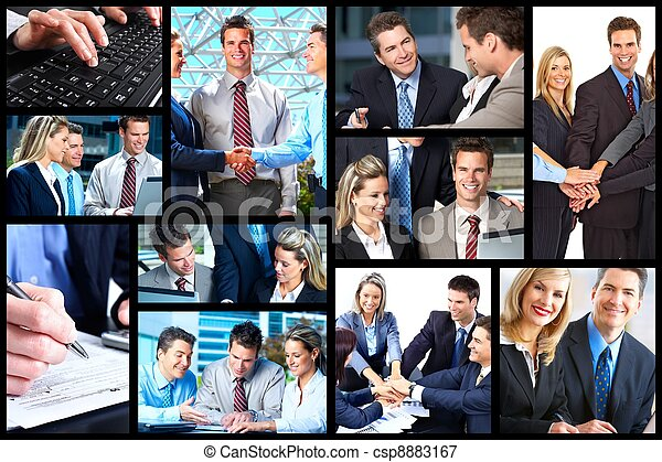business people collage csp8883167