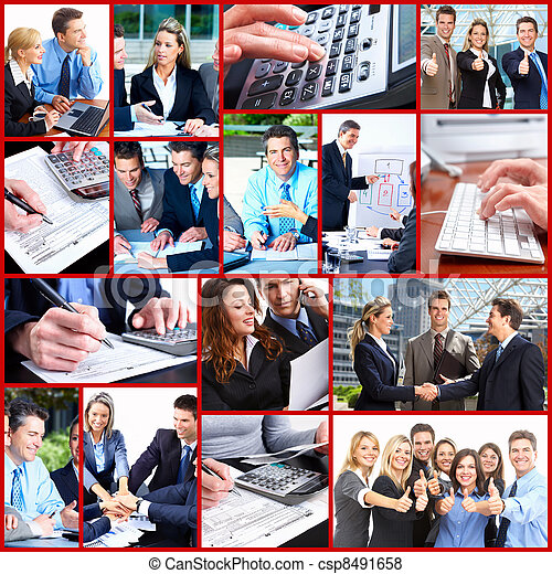 Business people collage. - csp8491658
