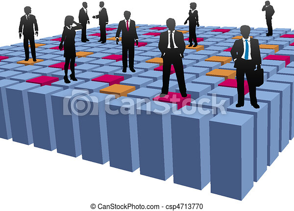 Business people company team work abstract cubes - csp4713770