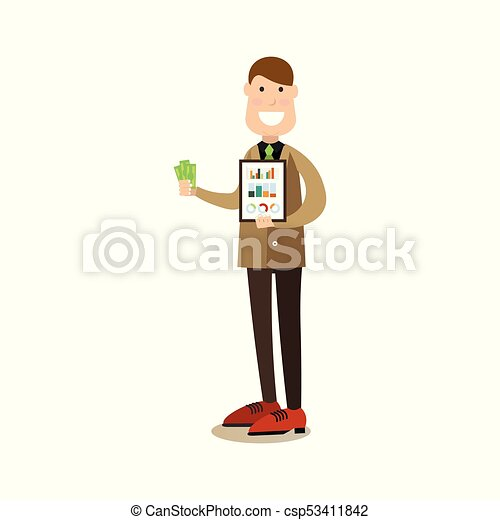 Business people concept vector illustration in flat style - csp53411842