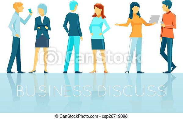 Business people discussing - csp26719098