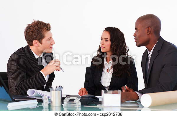 Business people discussing in an office - csp2012736
