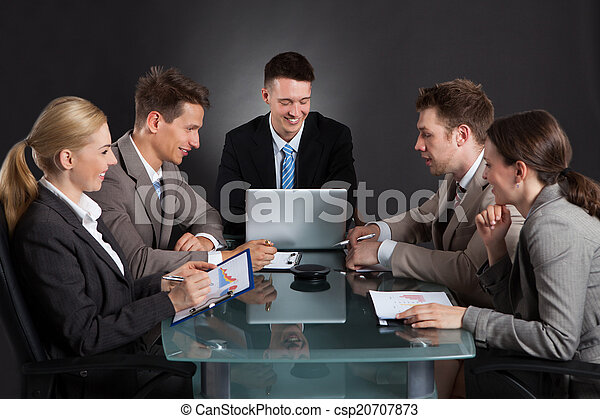 Business People Discussing In Conference Meeting - csp20707873