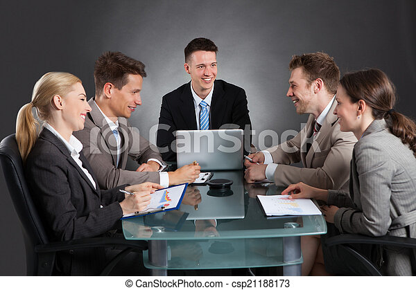 Business People Discussing In Conference Meeting - csp21188173