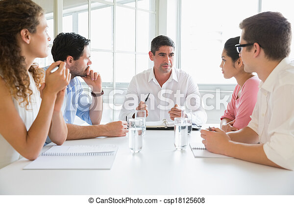 Business people discussing in conference meeting  - csp18125608