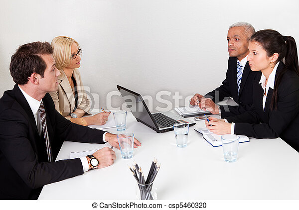 Business people discussing in the meeting - csp5460320