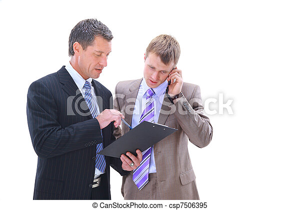 Business people discussing - csp7506395
