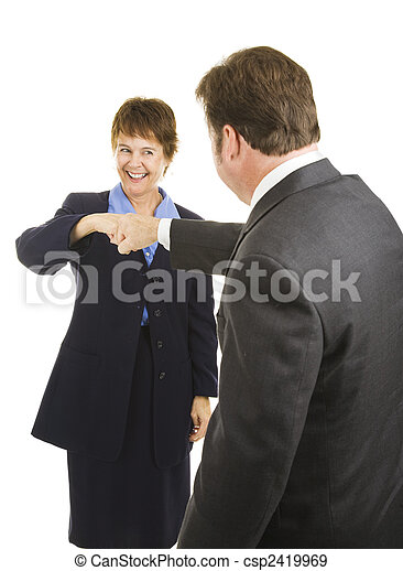 Business People Fist Bump - csp2419969