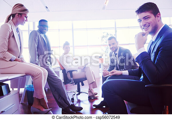 business people group at office - csp56072549