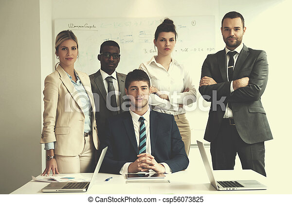 business people group at office - csp56073825