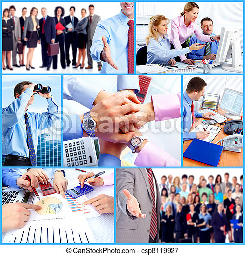 Business people group collage. - csp8119927