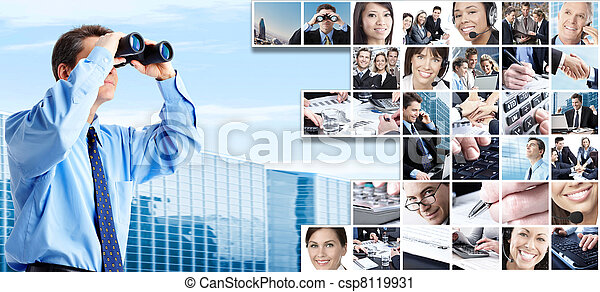Business people group collage. - csp8119931