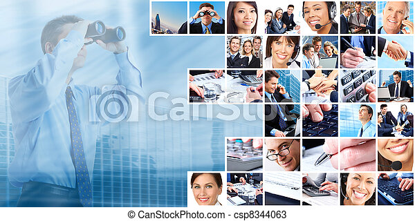 Business people group collage. - csp8344063
