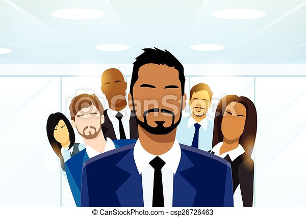 Business People Group Leader Diverse Team - csp26726463