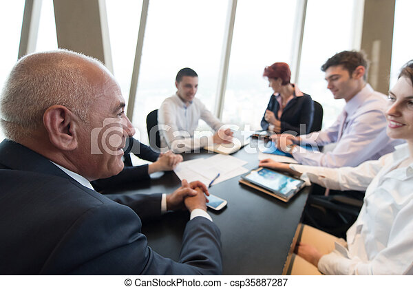 business people group on meeting - csp35887287