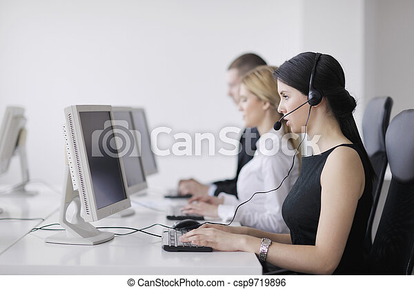 business people group working in customer and help desk office - csp9719896