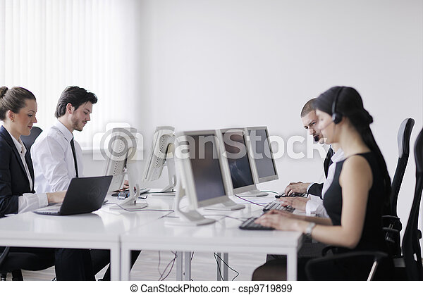 business people group working in customer and help desk office - csp9719899