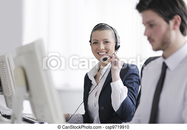 business people group working in customer and help desk office - csp9719910