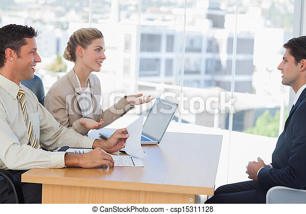 Business people having an interview - csp15311128