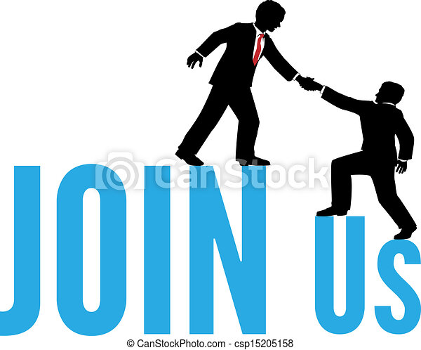 Business people help join up team - csp15205158