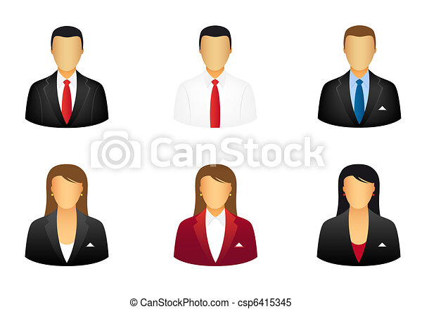 Business people icons - csp6415345