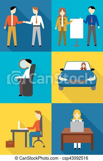 business people icons - csp43092516