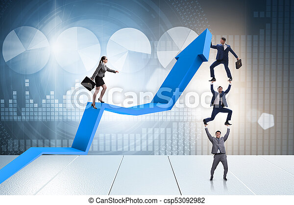 Business people in economic recovery business concept - csp53092982