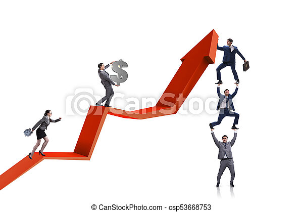 Business people in economic recovery business concept - csp53668753