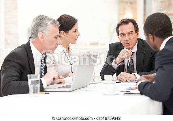 Business People In Meeting - csp16759342