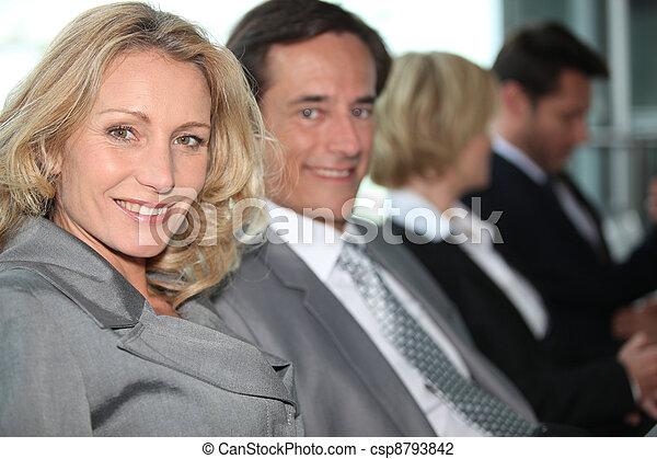 Business people in meeting - csp8793842