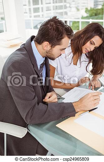 Business people in meeting  - csp24965809