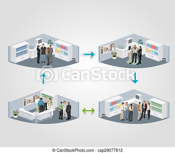 business people in offices - csp29077812
