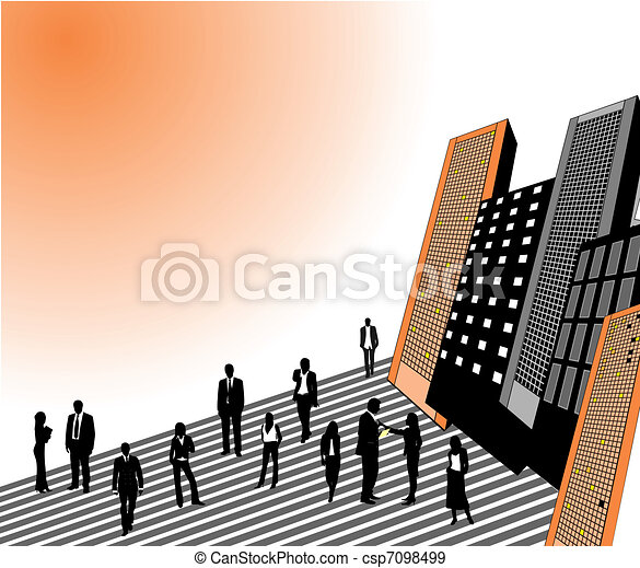 Business people in the city - csp7098499