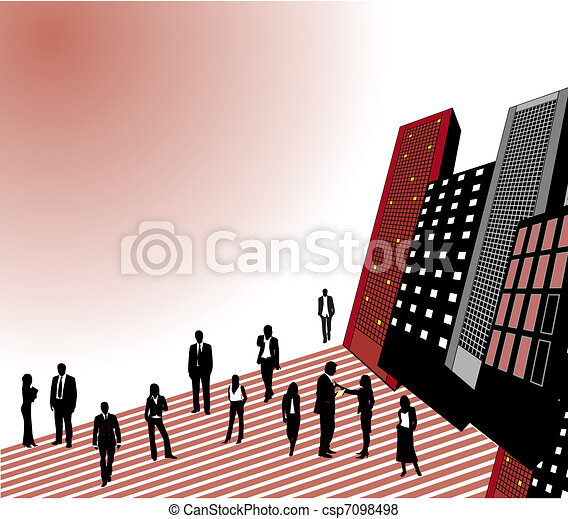 Business people in the city - csp7098498