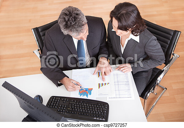 Business people in the office at the meeting - csp9727257
