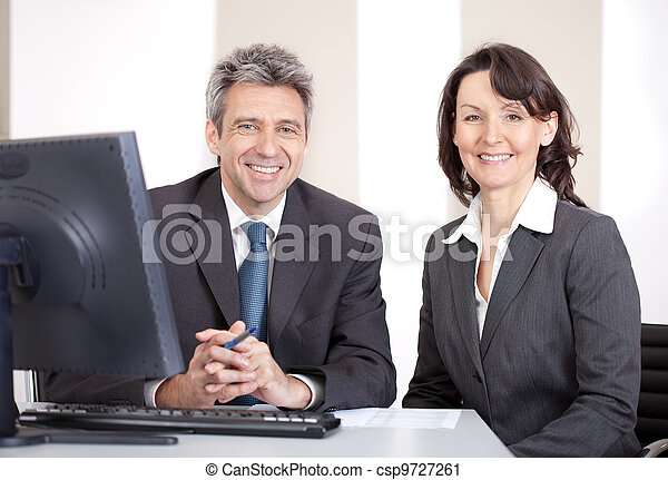 Business people in the office at the meeting - csp9727261