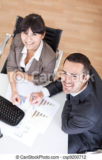 Business people in the office at the meeting - csp9200712