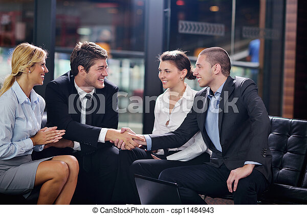 business people making deal - csp11484943