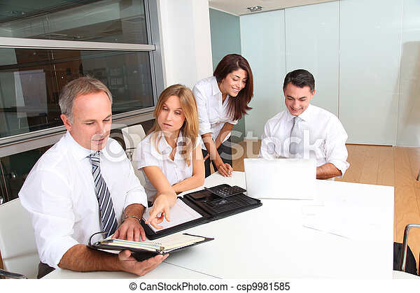 Business people meeting around table - csp9981585