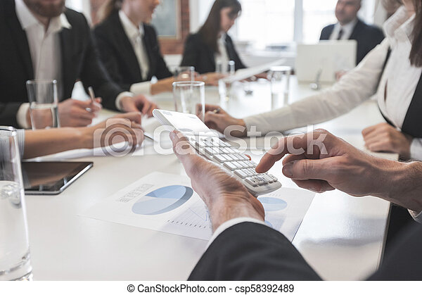 Business people meeting at office - csp58392489