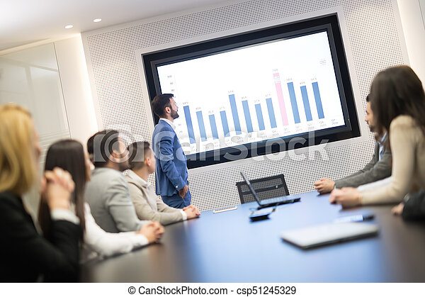 Business people meeting in conference room - csp51245329