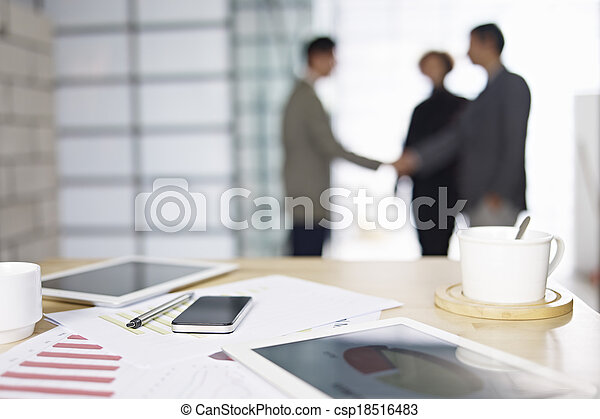 business people meeting in office - csp18516483